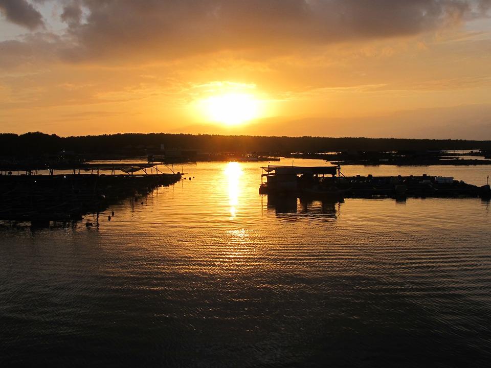 Sunset, Fishing Village, Sea, Relaxation, Calm