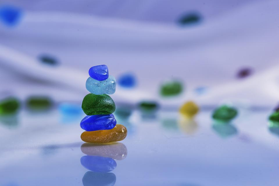 Stones, Glass, Turquoise, Blue, Costa, Beauty, Calm