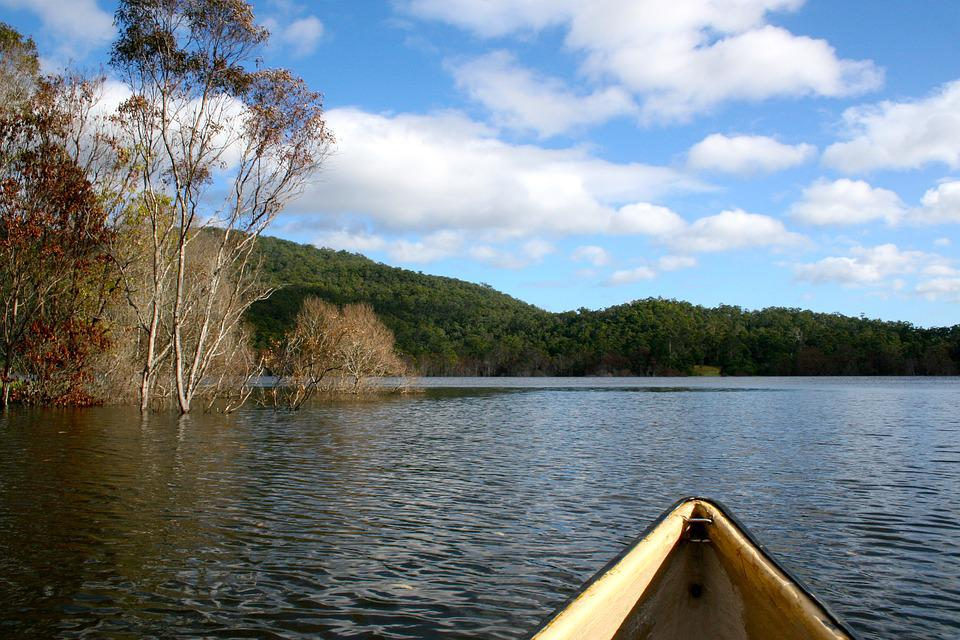 Canoe, Tranquil, Boat, Lake, Landscape, Nature, Calm
