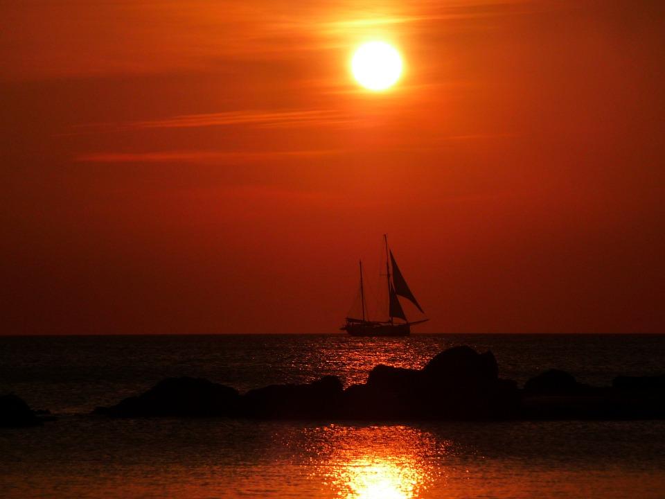 Sailing Ship, Sailing Boat, Calm, Quiet, Evening