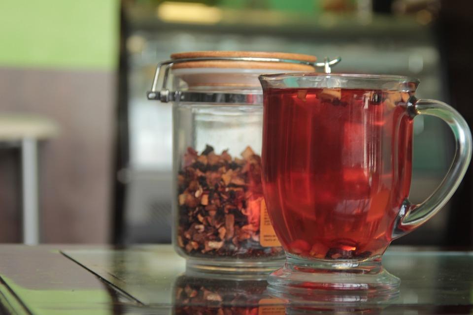 Tea, Fruits, Red, Mango, Calm