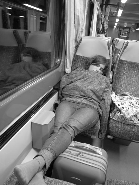 Sleep, Man, Train, Calm, Rest