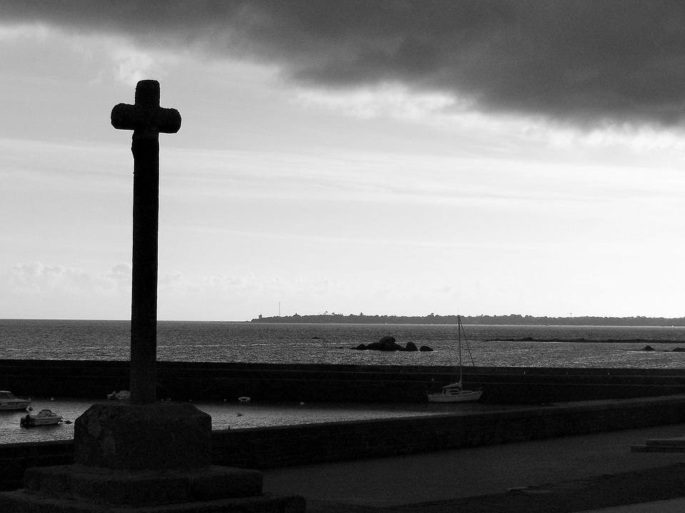 Sea, Cross, Calvary, Holiday, Religion, Faith, Seaside