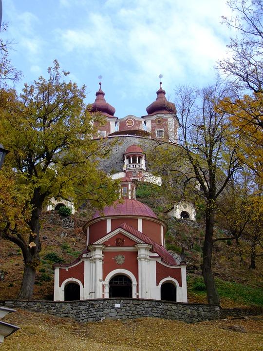 Calvary, Church, Slovakia, Nature, Sky, Trees, City