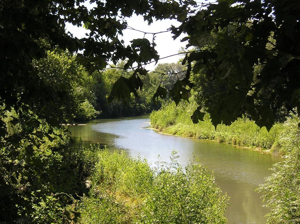 Landscapes, Camargue, Sommières, Vidourle, Nature