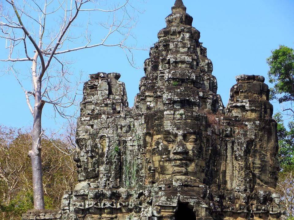Cambodia, Angkor, Religion, Temple, Bayon, Face