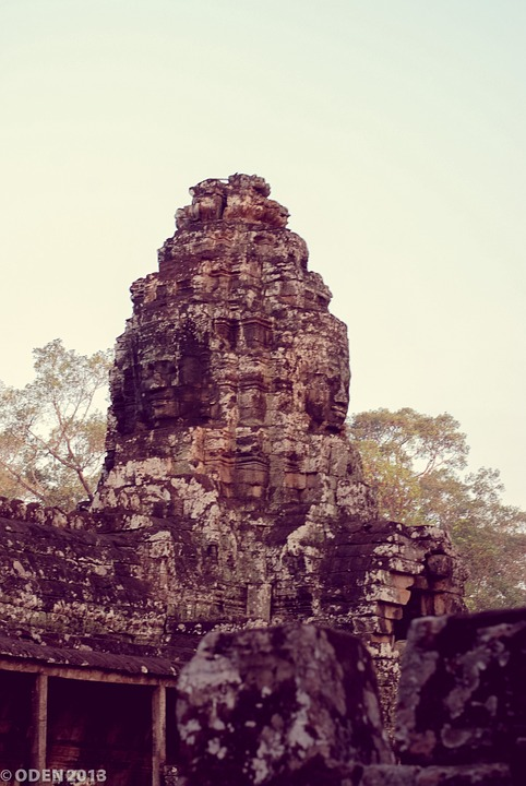 Temple, Cambodia, Siem Reap, Angkor Thom, Architecture
