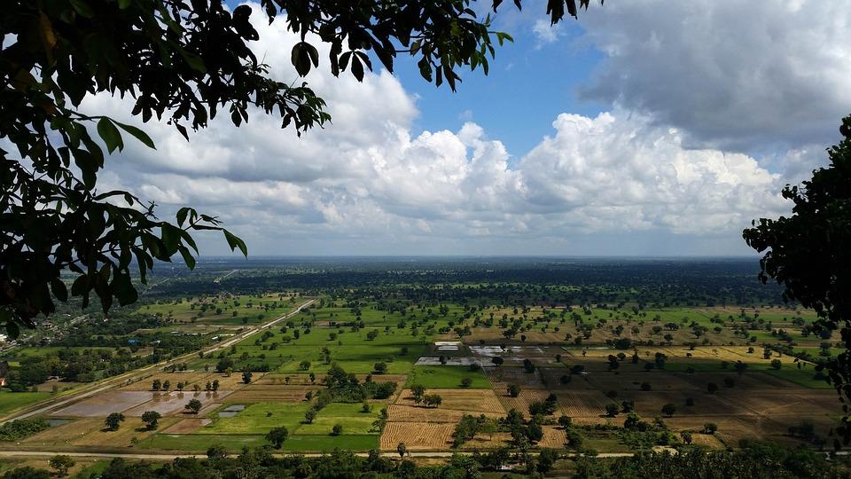 Cambodia, Asia, Battambang, Phnom Sampeau, View