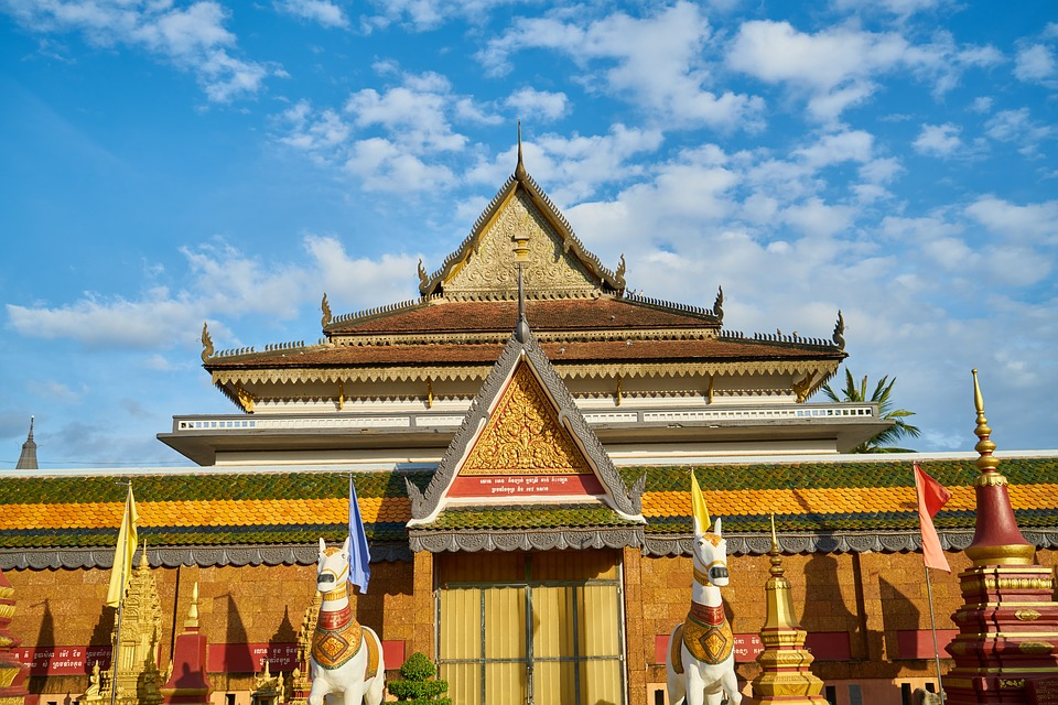 Roof, Building, Asian, Thailand, Cambodia, Temple