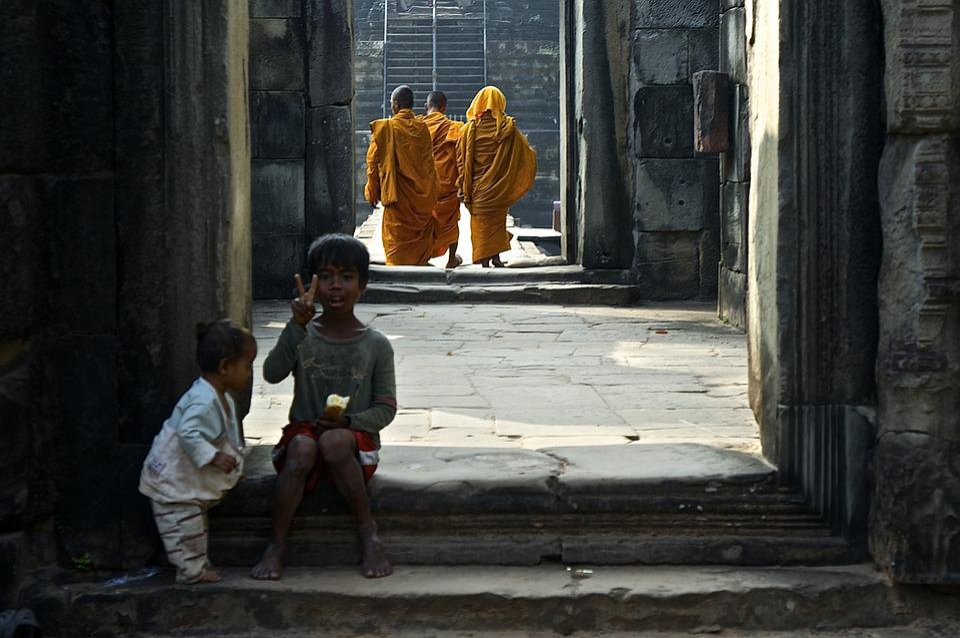 Temple, Asia, Southeast, Cambodia, Buddhism, Wat