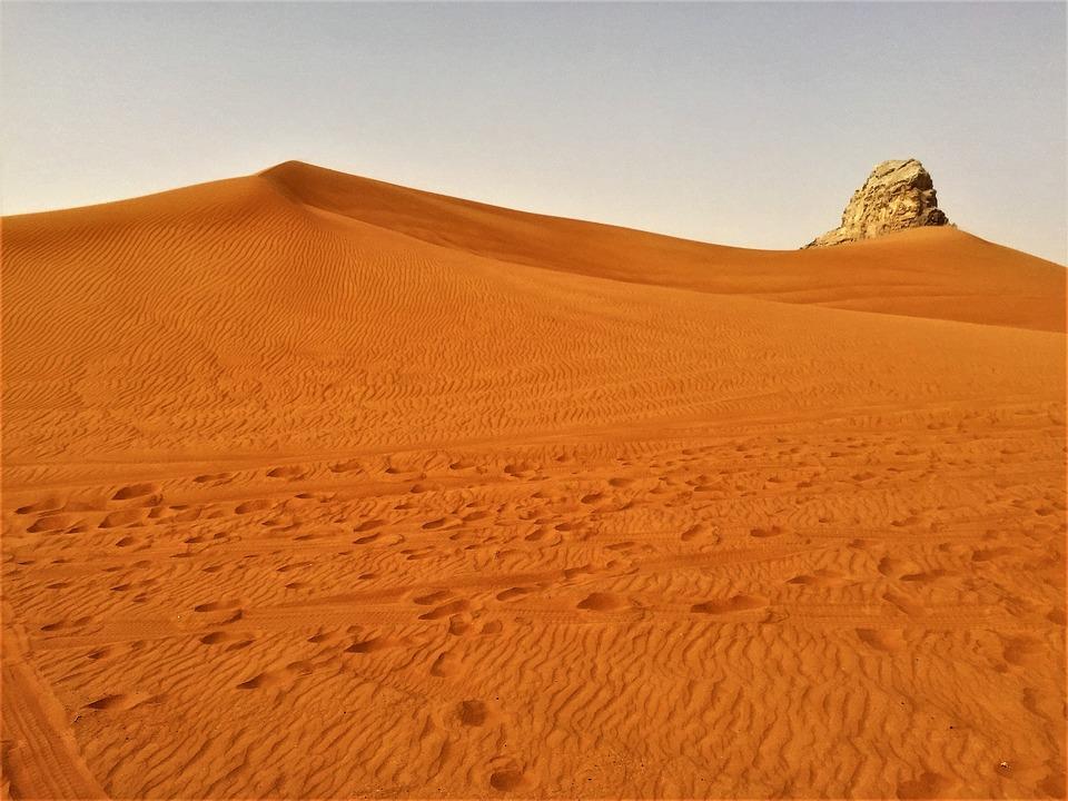 Dubai, Desert Safari, Camel, Rock, Fujairah, Desert
