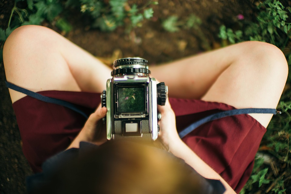 Analog Camera, Camera, Girl, Hipster, Photography, Legs