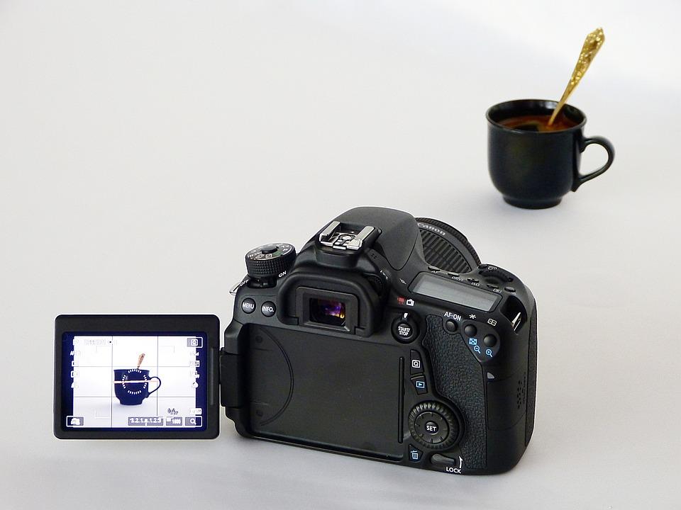 Device, Camera, Digital, Apn, Canon, 70d, Black, Coffee