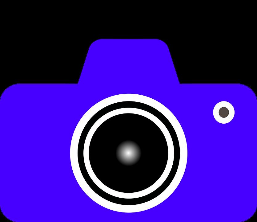 Camera, Blue, Simple