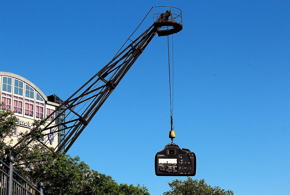 Crane, Port, Camera