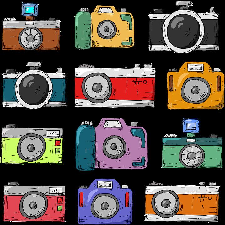Camera, Hand Drawn, Old, Nostalgia, Retro, Lens