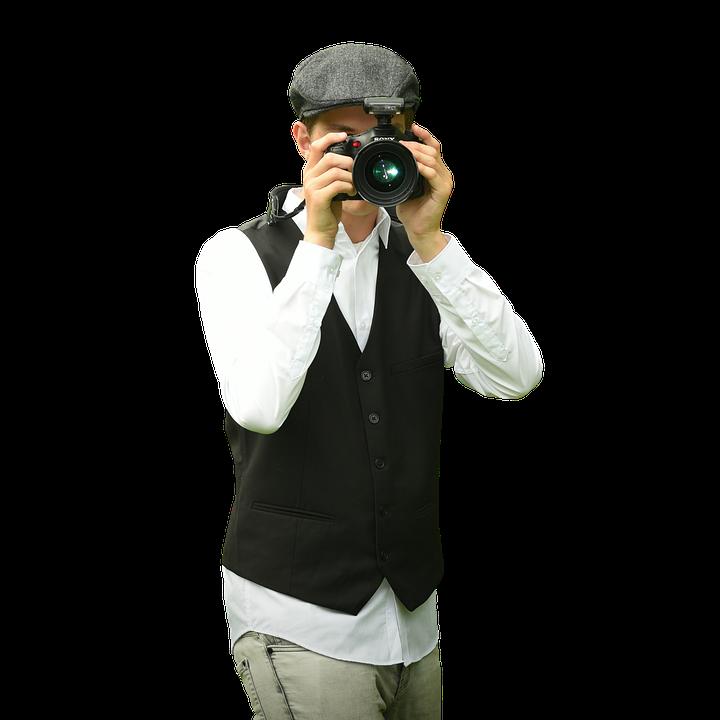 Pekah, Photographer, Isolated, Professional, Camera