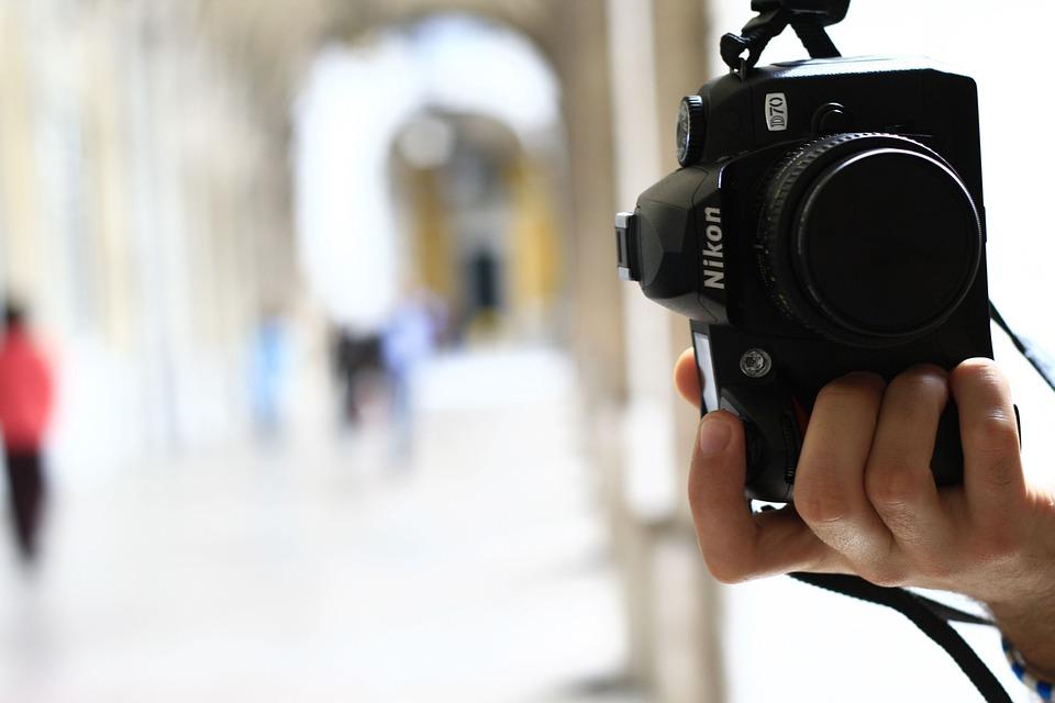Nikon, Camera, Photography, Hand, Shooting