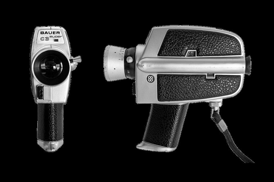 Camera, Isolated, Equipment, Flash, Technology, White