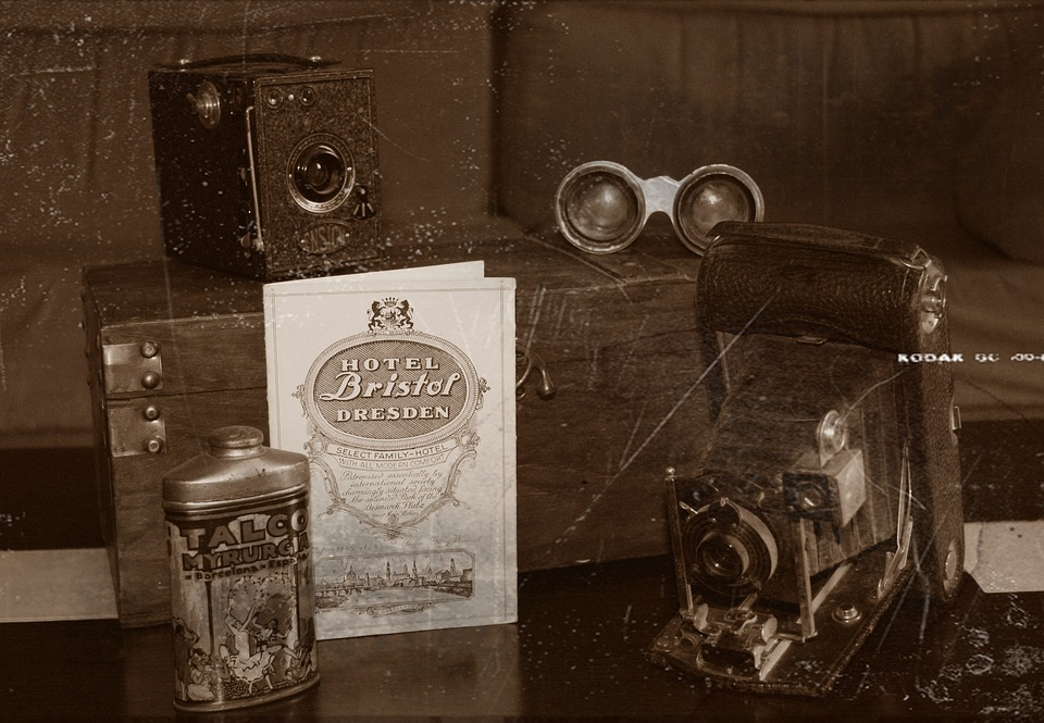 Vintage, Cameras, Antiques