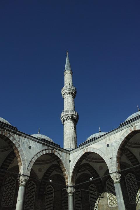Cami, Minaret, Dome, City center, Turkey