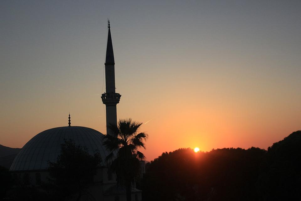 Cami, Sunset, Minaret, Sky, Mosquée, Mosque, Muslim