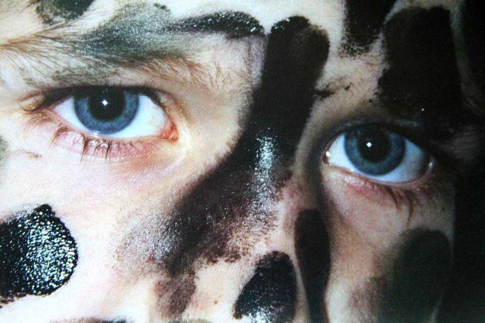 Boy, Eyes, Face, Camouflage, Melted, Human
