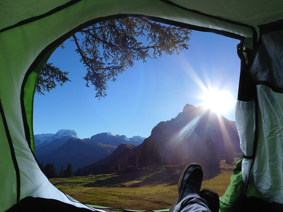 Camp, Camping, Holiday, View, Landscape, Panorama