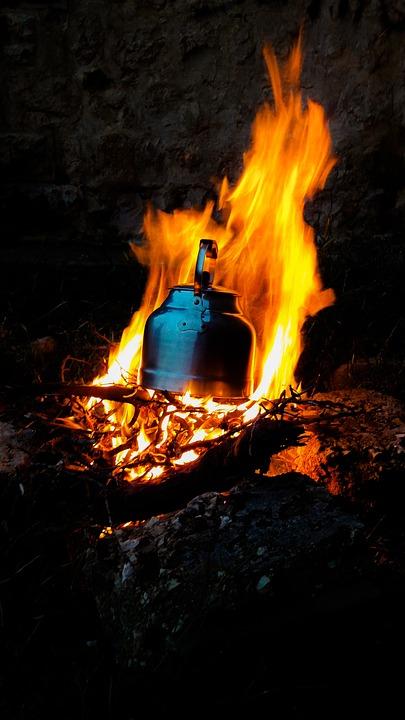 Camp, Camping, Travel, Ali, Campfire, Camp Fire, Tea