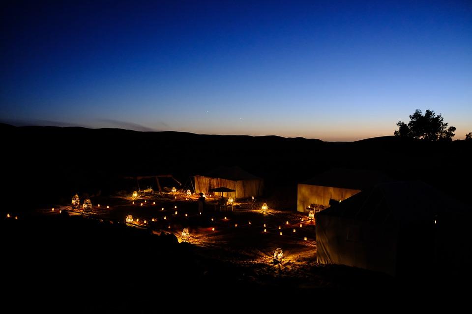 Sunset, Camp, Camping, Nature, Desert, Sahara, Morocco