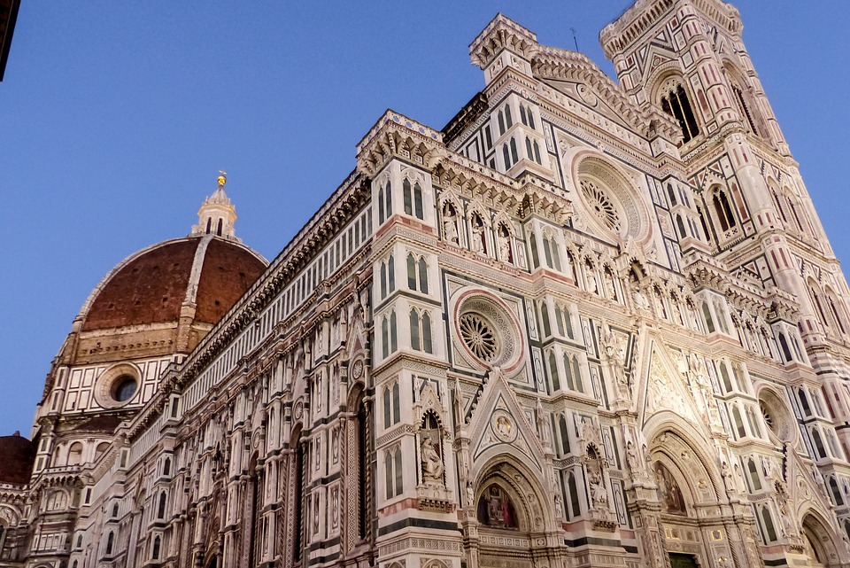 Florence, Dome, Campanile, Cathedral, Architecture