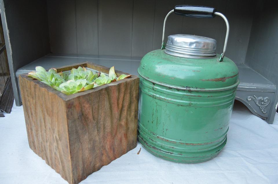 Farmhouse, Thermos, Antique, Vintage, Camper Thermos
