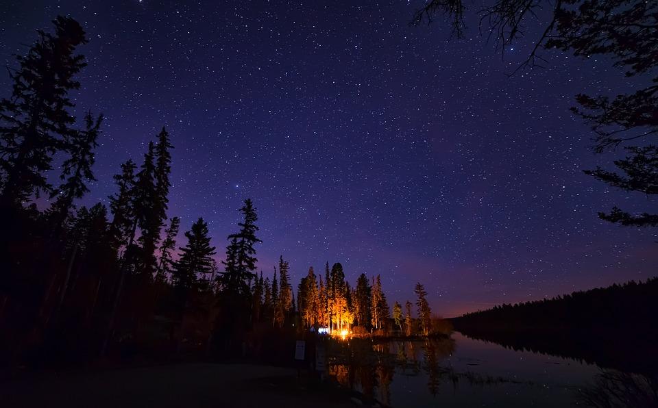 Bonfire, British Columbia, Campfire, Canada, Darkness