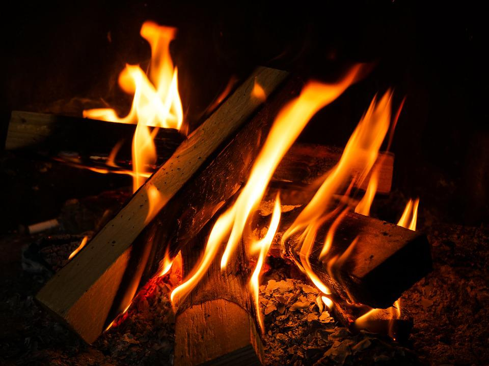 Flare-up, Joy Fire, Heat, Fireplace, Campfire, Firewood