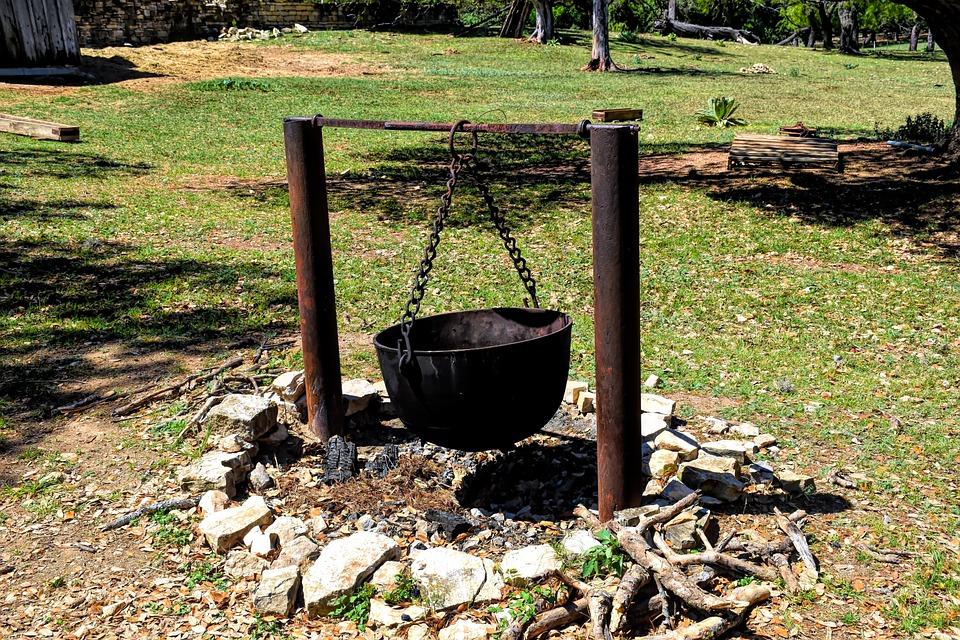 Cauldron, Metal, Campfire, Kettle, Pot, Old, Cooking