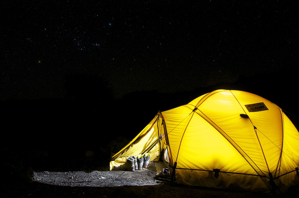 Tent, Camp, Night, Star, Camping, Expedition, Dome Tent
