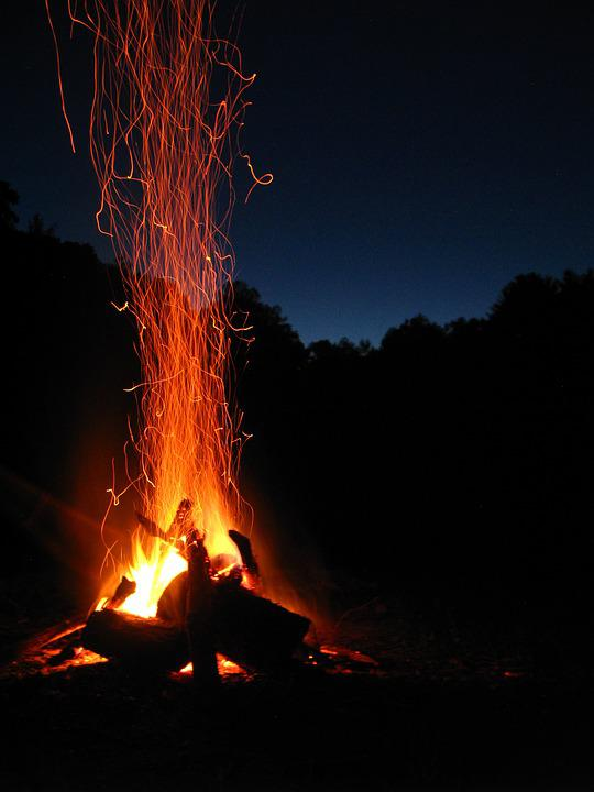 Fire, Spark, Campfire, Flame, Blaze, Orange, Camping