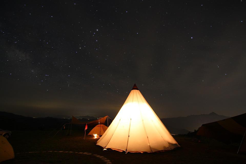 Active Mountain, Star, Camping