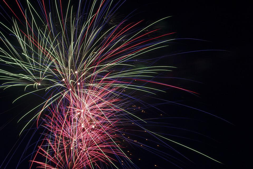 Fireworks, Fourth, July, Canada Day, Independence, Day