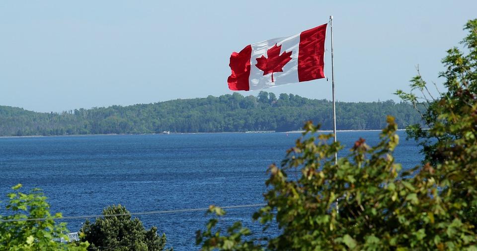 Canada, Canadian Flag, Flag, White, Red, Flutter