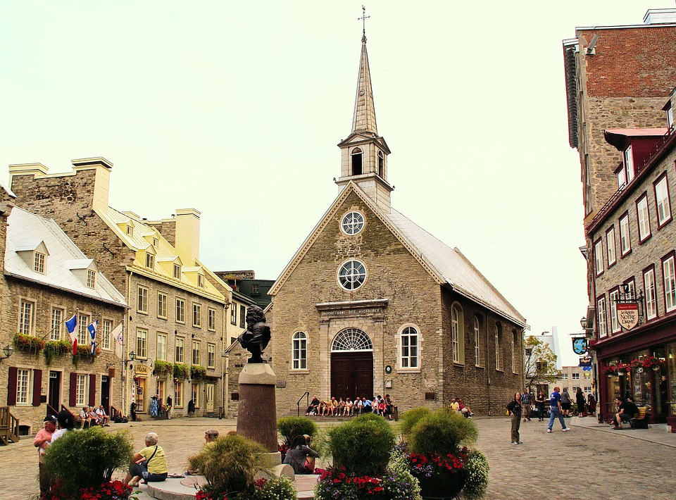 Canada, Quebec, Old Town, Church, Old Church, History