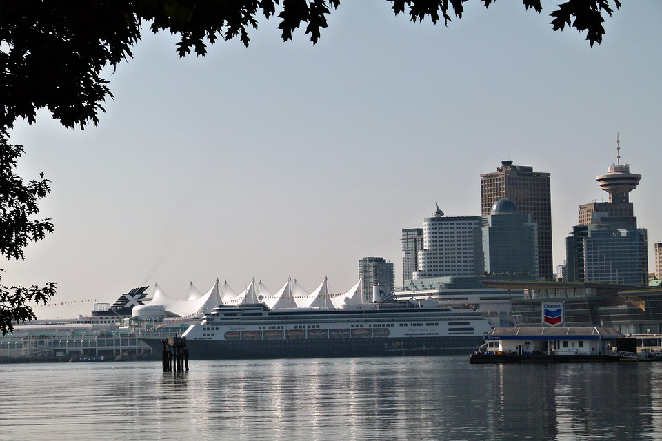 Vancouver, Canada Place, Pacific, Water, Buildings