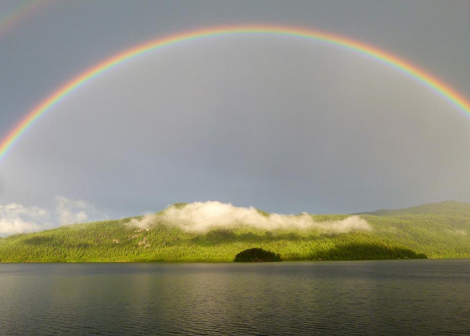 Rainbow, Canim Lake, British Columbia, Canada