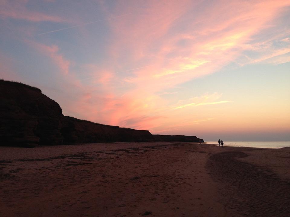 Pei, Prince Edward Island, Canada, Sunset, Shore
