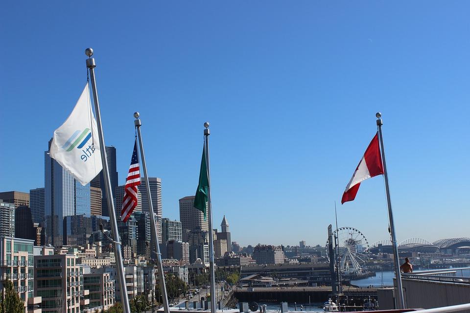 Flag, Union, North America, Canada