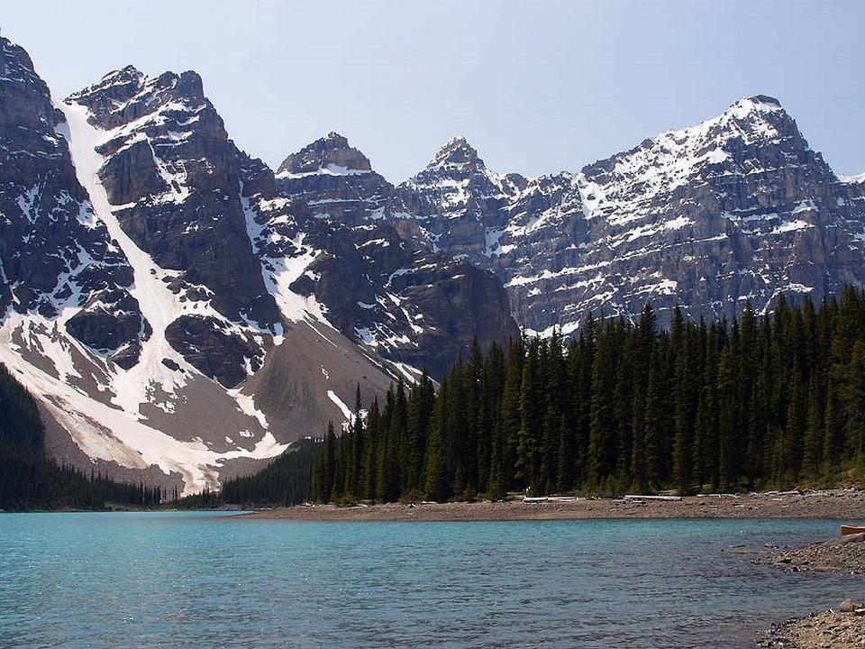 Tourism, Travel, Canadian Rockies, Banff, Moraine Lake