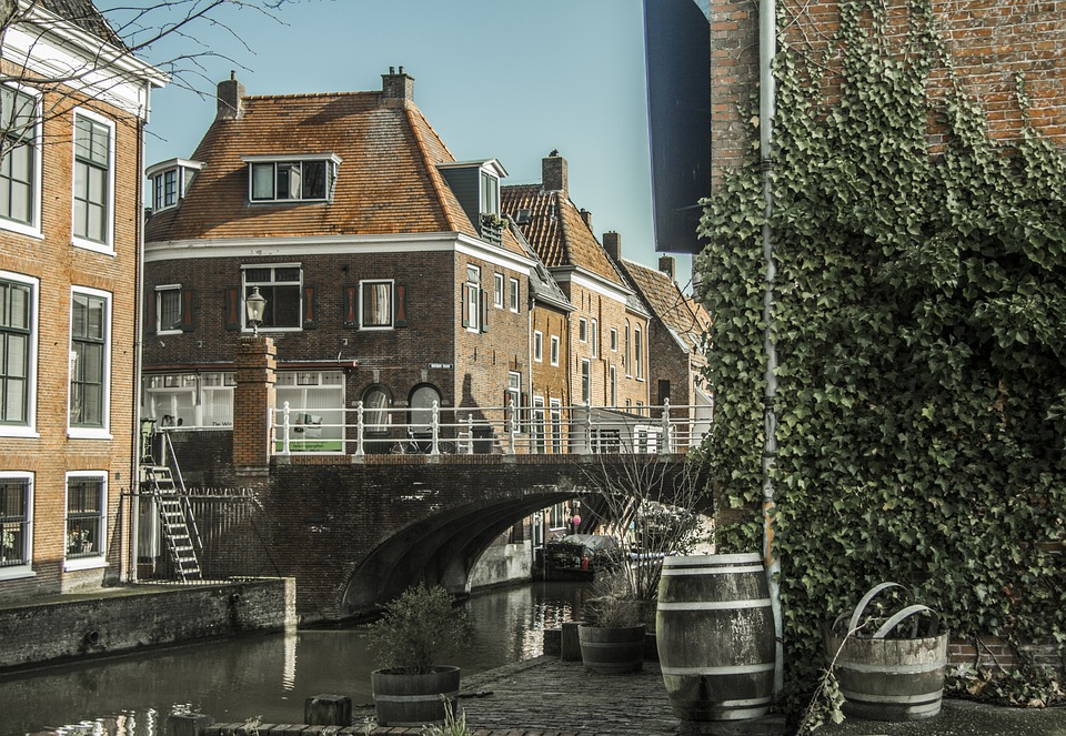 Netherlands, Old, Canal, Appingedam, Amsterdam, Travel