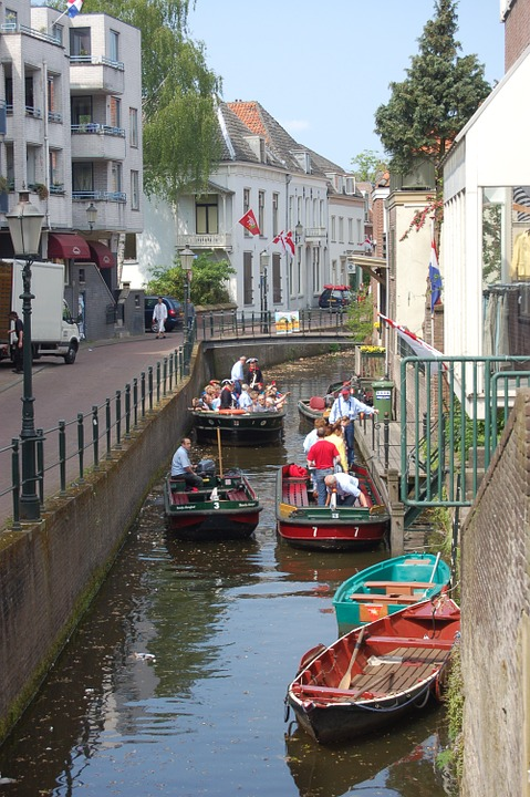 Canal, Amersfoort, Boat, City Boats, Boats, Tourists