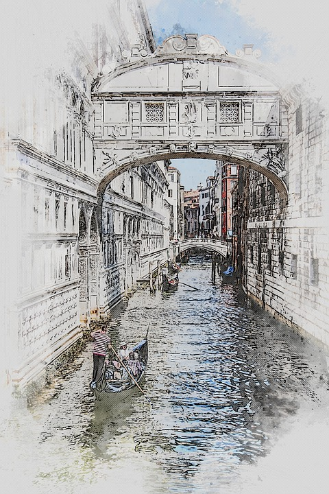 Bridge Of Sights, Venice, Italy, Vacation, Canal