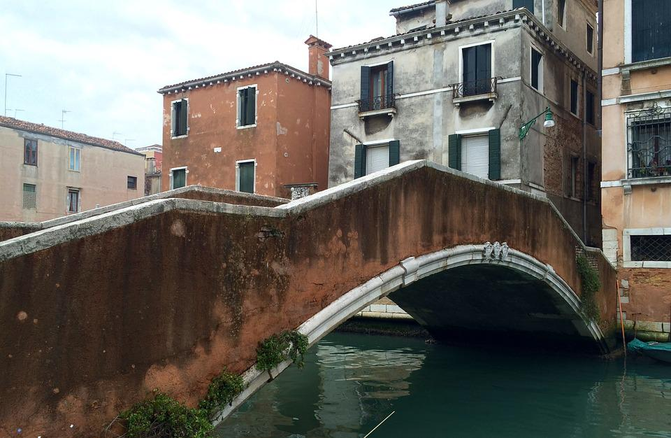 Venice, Bridge, Canal, Italy, Venezia, Ponte, Veneto